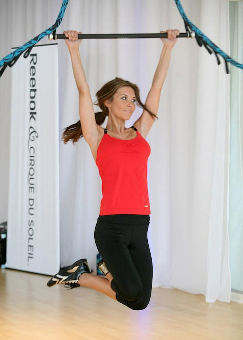 Audrina Patridge trying Reebok's Jukari Fit To Fly workout