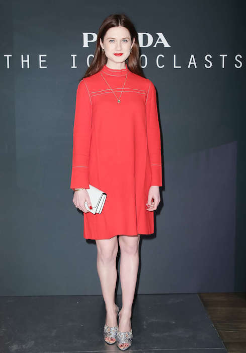 Bonnie Wright at Prada The Iconoclasts NYFW 2015