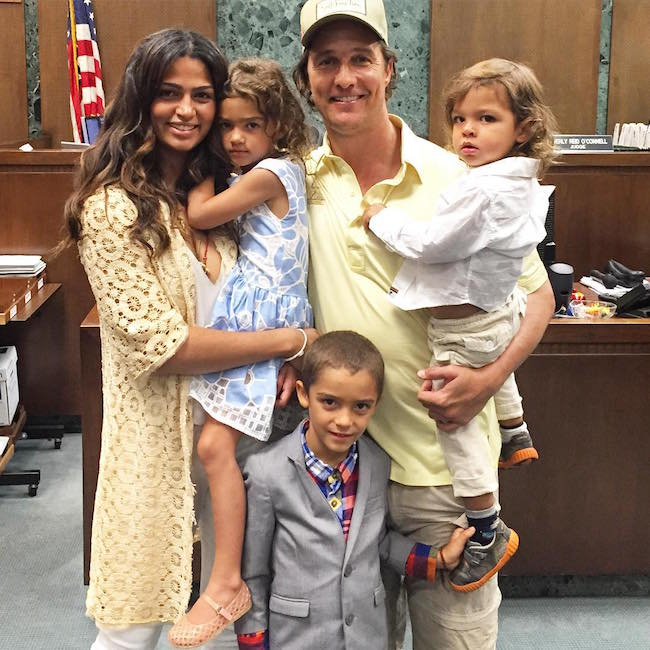 Camila Alves with husband and 3 children