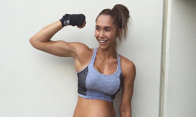 Chontel Duncan showing her biceps
