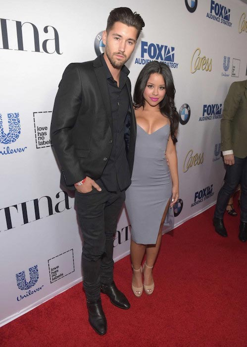 Cierra Ramirez and Jeff Wittek at Latina Media Ventures Hosts Latina Hot List Party 2015