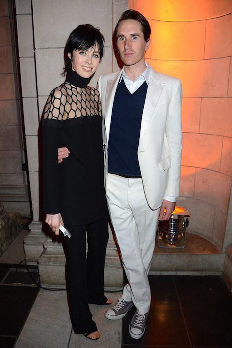 Edie Campbell and Otis Ferry at the Bowie exhibition preview in London