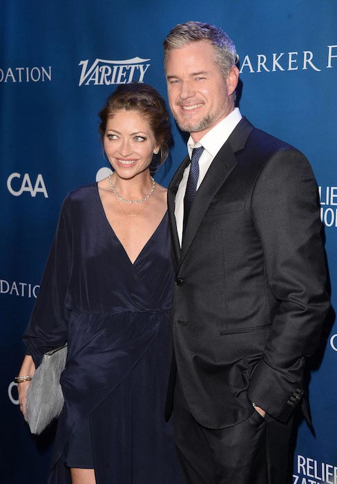 Eric Dane and Rebecca Gayheart at the 5th Annual Sean Penn and Friends Gala in January 2016