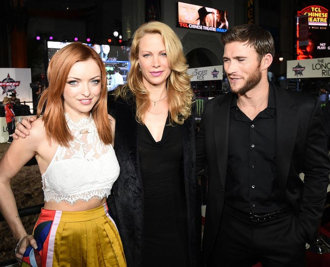 "Francesca Eastwood, Alison Eastwood and Scott Eastwood (From Left to Right) at ""The Longest Ride"" premiere in April 2015"