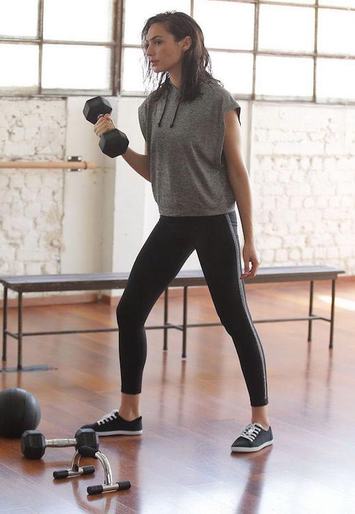 Gal Gadot working out