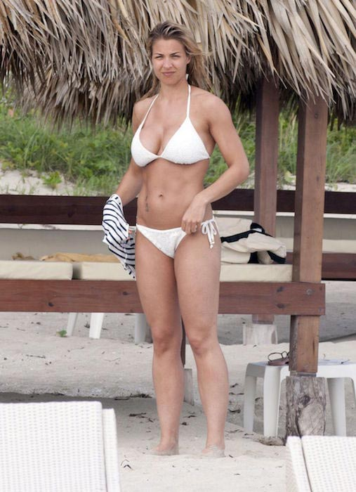 Gemma Atkinson in bikini at a beach in Cuba in June 2015