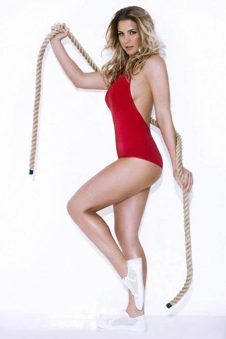 Gemma Atkinson in red swimsuit