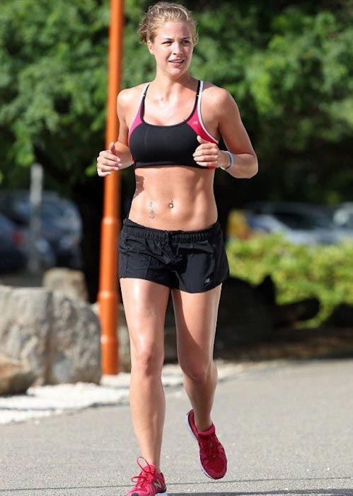 Gemma Atkinson's taut stomach
