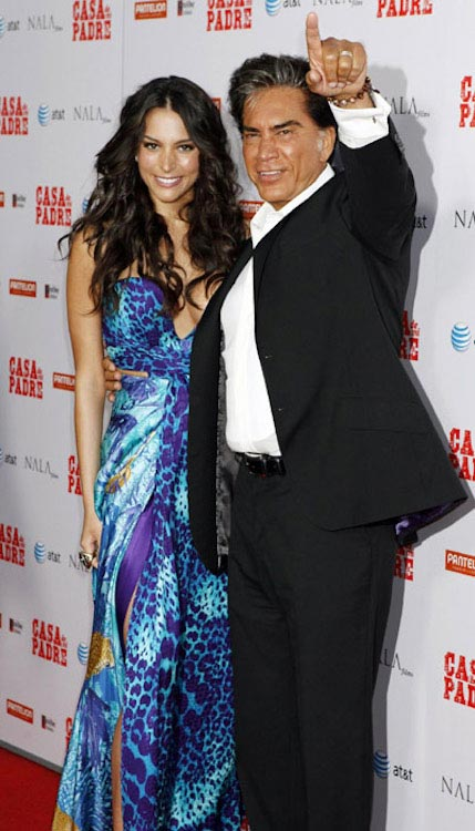 Genesis Rodriguez with her dad