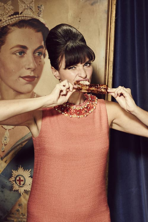 Gizzi Erskine eating food