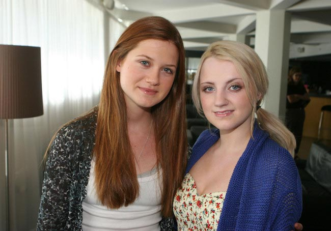 Harry Potter actresses Evanna Lynch and Bonnie Wright