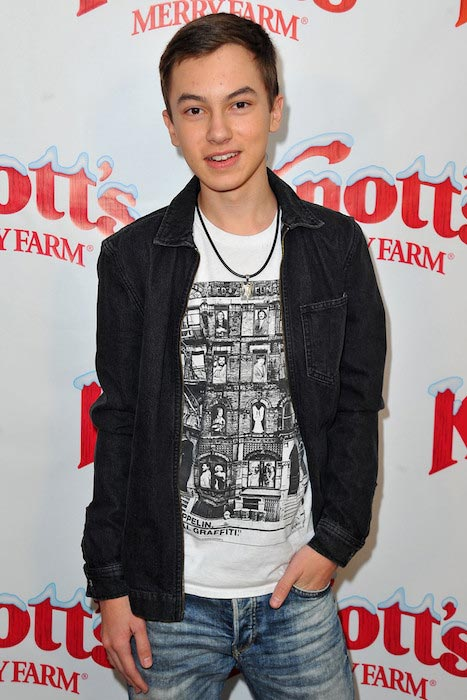 Hayden Byerly at Knott's Merry Farm Countdown to Christmas in December 2015