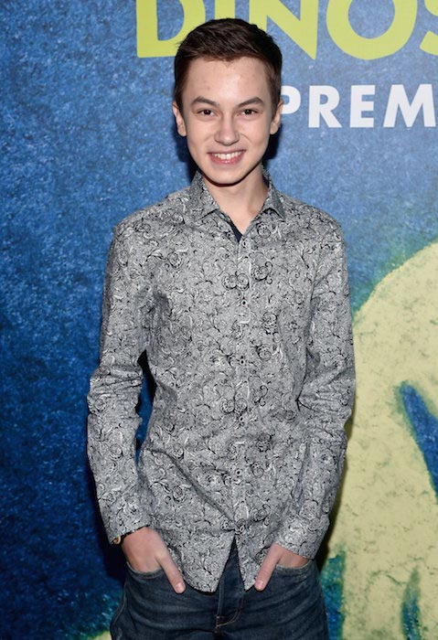 Hayden Byerly at the 'The Good Dinosaur' world premiere in November 2015