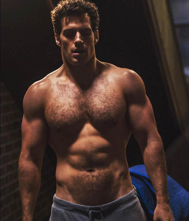 Henry Cavill or Superman's shirtless body