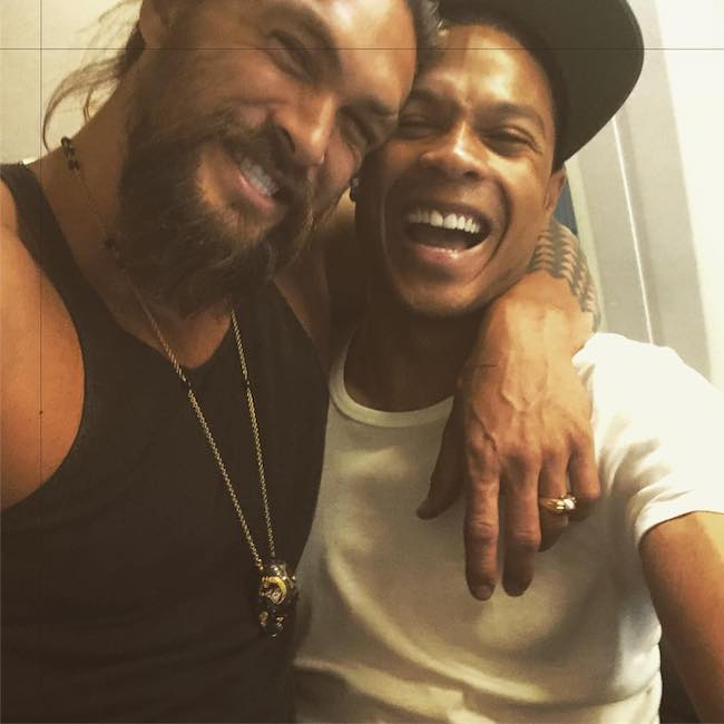 Jason Momoa and Ray Fisher in October 2017