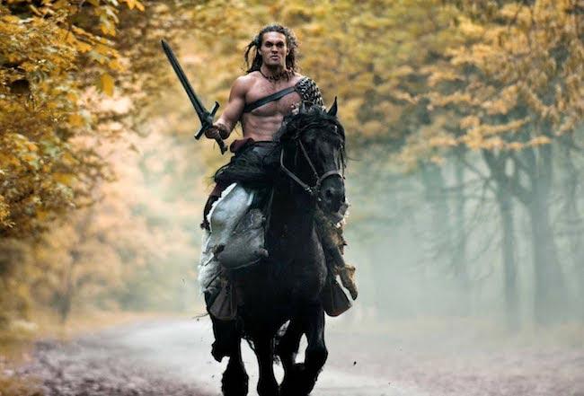 Jason Momoa on a horse
