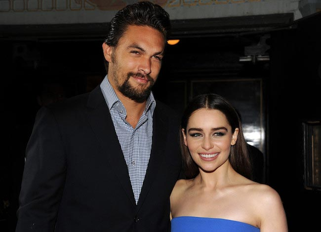 Jason Momoa with his Game of Thrones co-star