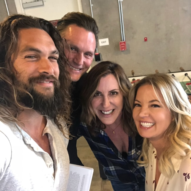 Jason Momoa with his friends as seen in May 2018