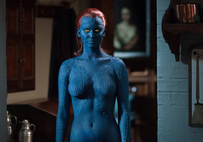 "Jennifer Lawrence plays Mystique in ""X-Men: First Class"""