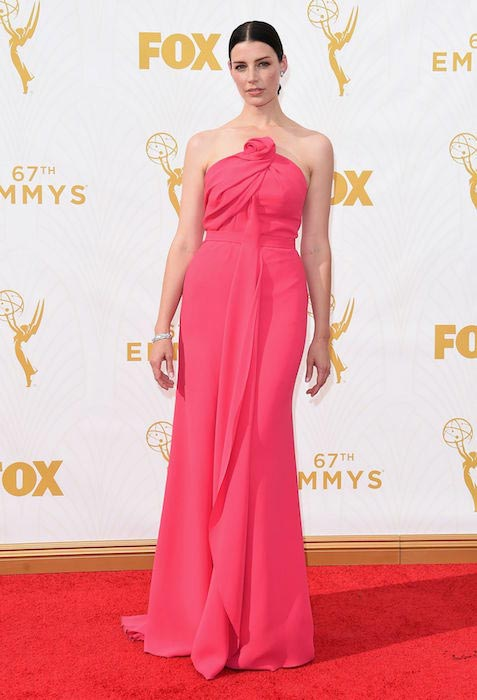 Jessica Paré at 2015 Primetime Emmy Awards in Los Angeles