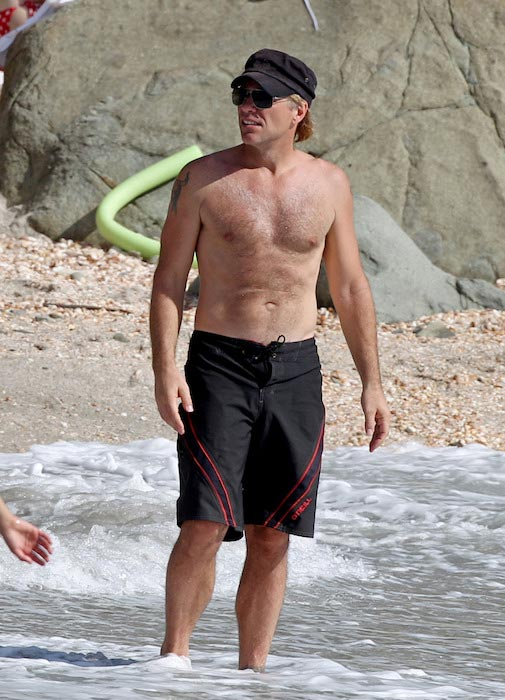 Jon Bon Jovi shirtless body