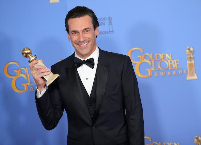 Jon Hamm at Golden Globes 2016