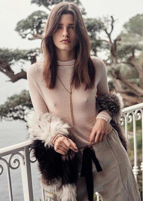 Julia van Os posing for Vogue Espana January 2016 Issue