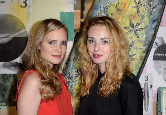 Juliette Gernez (Left) and Freya Mavor at the Y-3 Spring / Summer 2015 Show
