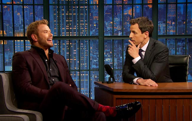 Kellan Lutz at a talk show