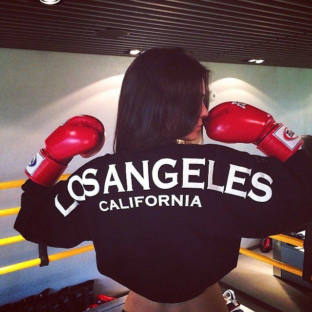 Kendall Jenner boxing workout