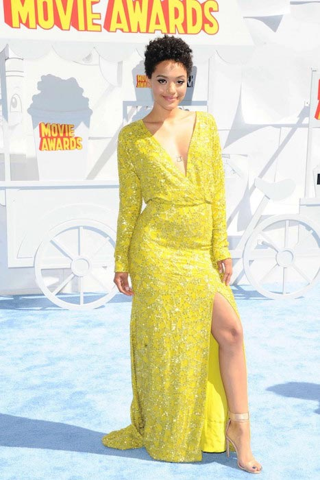 Kiersey Clemons at 2015 MTV Movie Awards