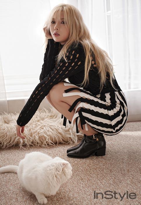 Kim Hyuna for InStyle Magazine's October 2015 photoshoot