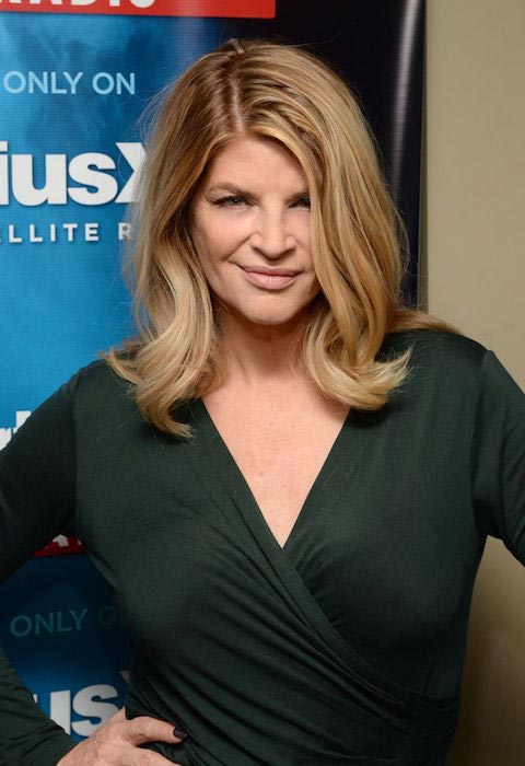 Kirstie Alley at SiriusXM Studios in New York City in January 2015