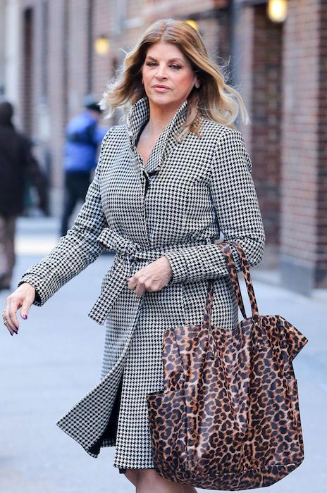 Kirstie Alley leaving the Today show in New York City in January 2016