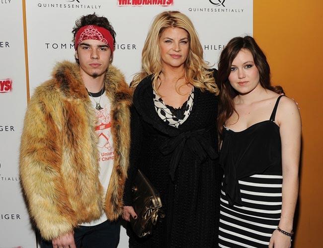 Kirstie Alley with her children, William True and Lillie Price