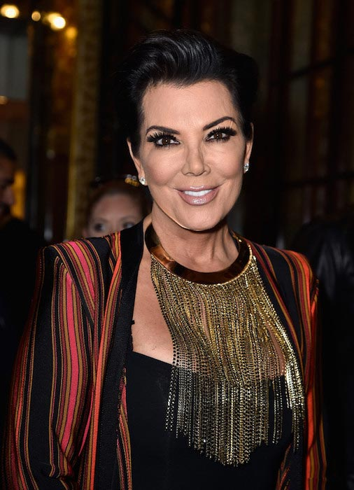 Kris Jenner present at the Balmain show as part of the Paris Fashion Week Womenswear Spring / Summer 2016 in Paris, France