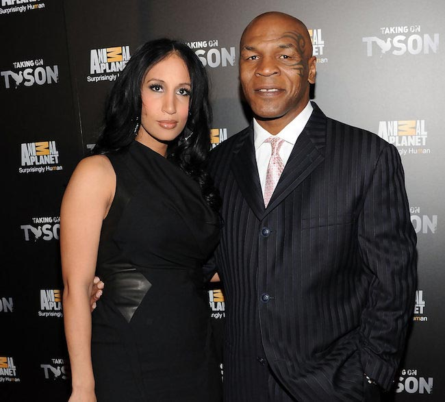 """Lakiha Spicer and Mike Tyson at the """"Taking on Tyson"""" New York premiere in March 2011"""