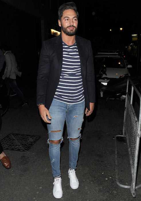Mario Falcone at Binky Felstead's collection launch with In The Style in October 2015