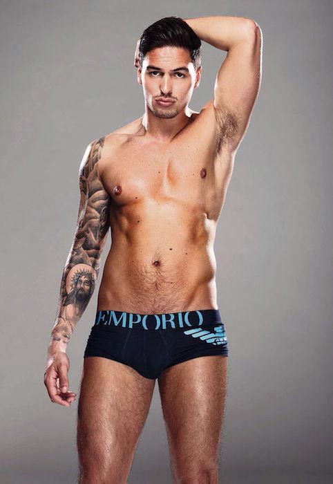 Mario Falcone shirtless body