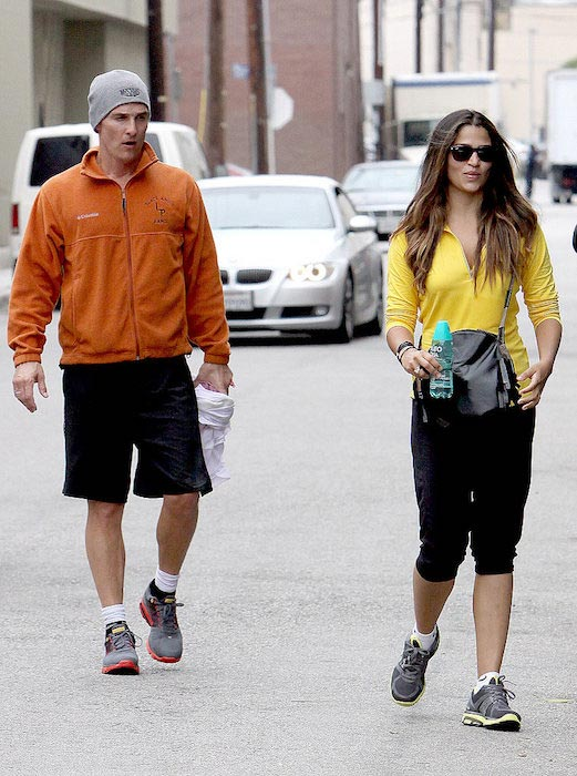 Matthew McConaughey and Camila Alves in their workout gears