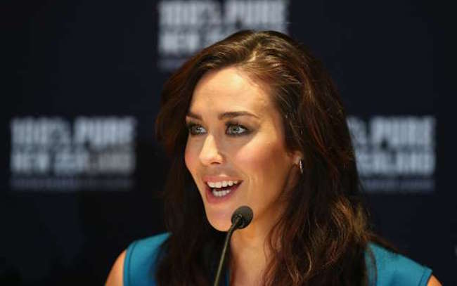 Megan Gale after being announced as Tourism New Zealand's celebrity ambassador in February 2016