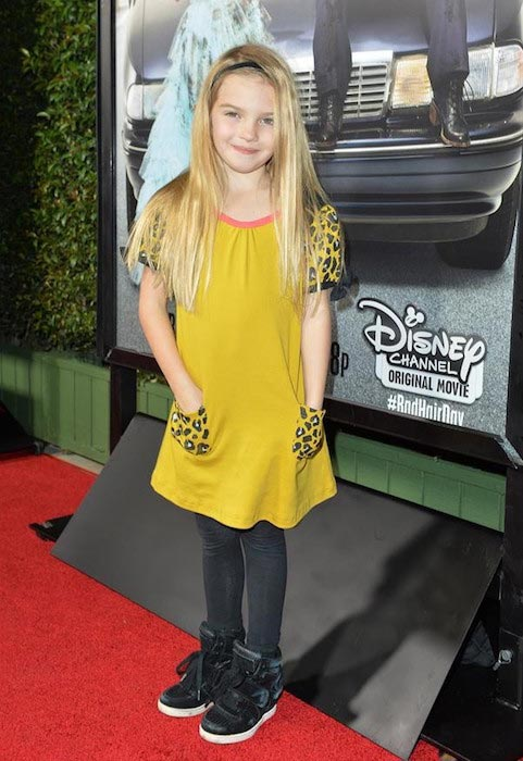 """Mia Talerico at the Disney Channel Original Movie """"Bad Hair Day"""" Los Angeles premiere on February 10, 2015"""