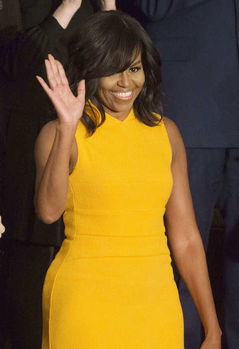 Michelle Obama as seen in January 2016