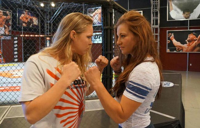 Miesha Tate (Right) and Ronda Rousey