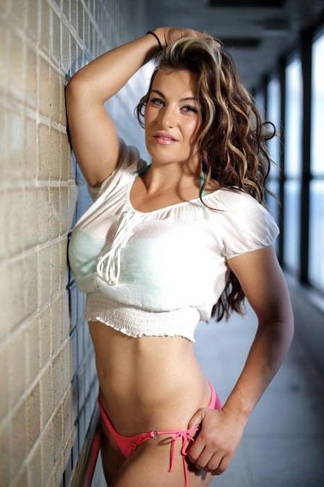 Miesha Tate during a hot photoshoot revealing her assets
