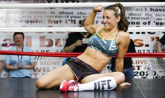 Miesha Tate in the UFC octagon