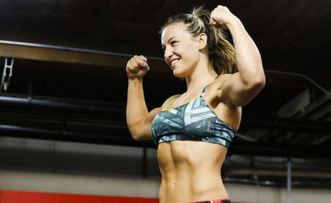Miesha Tate taut stomach