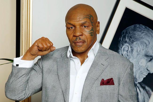 Mike Tyson face closeup