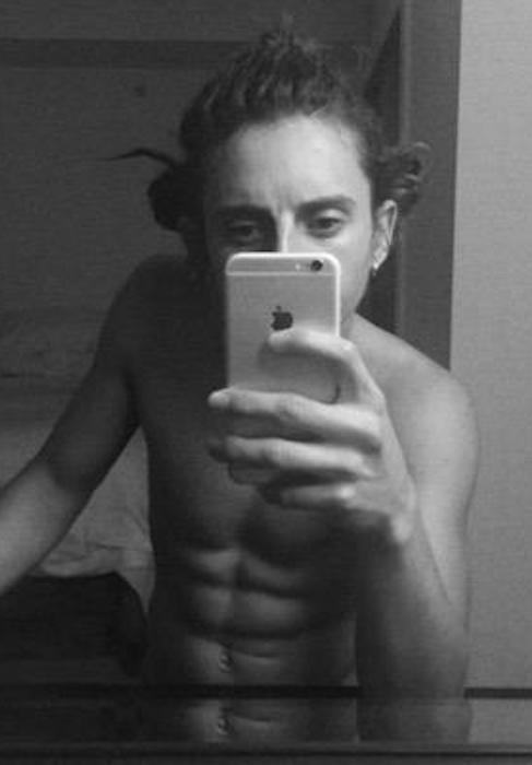 Moises Arias shirtless body