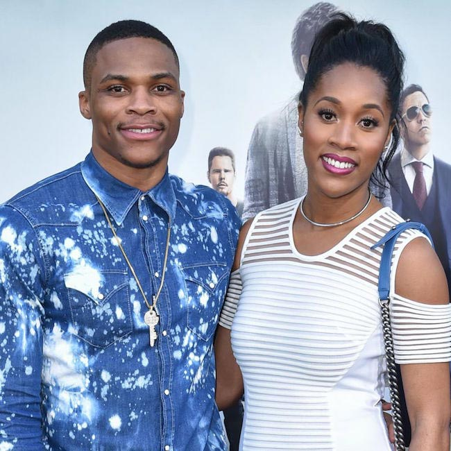 Russell Westbrook with his sweetheart Nina Earl